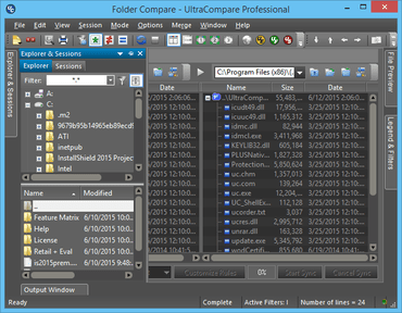 UltraCompare v15.10 adds Split Explorer Pane