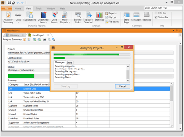 MadCap Analyzer 8 released