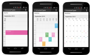 Syncfusion Essential Studio for Android adds Schedule Control