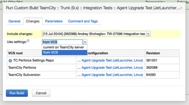TeamCity Improves Versioned Settings