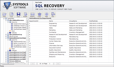 SysTools SQL Recovery released