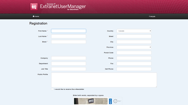 Extranet User Manager released