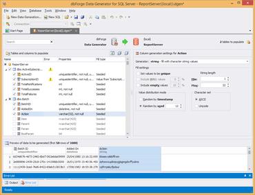 dbForge Data Generator for SQL Server released