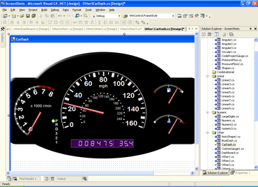 Dundas Gauge adds VS2010 support