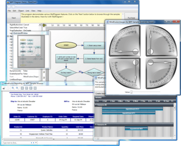 MindFusion.WPF Pack adds new Gantt chart controls