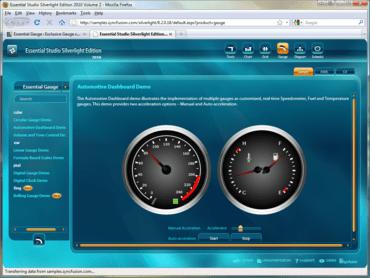 Essential Gauge adds HTML 5-based gauge control