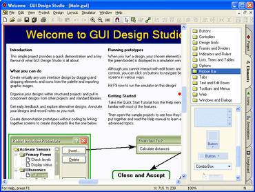 GUI Design Studio improves design options