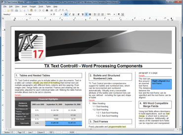 TX Text Control 17.0 released