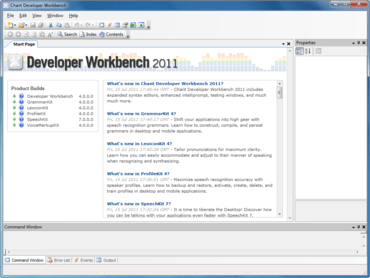 Chant Developer Workbench supports VS 11 Beta