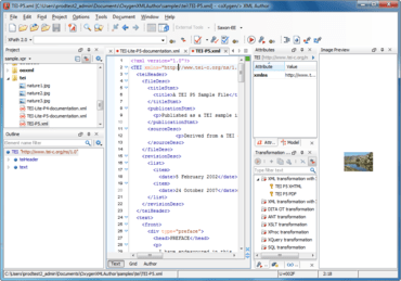 oXygen XML Author adds Framework Repositories