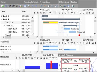 DlhSoft Gantt Chart Web Library updated
