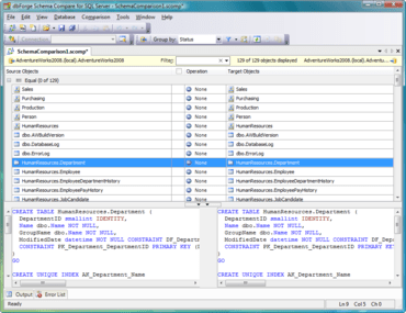 dbForge Schema Compare for SQL Server V4 released