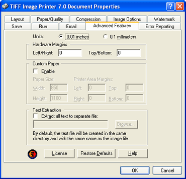 PEERNET patches TIFF Image Printer