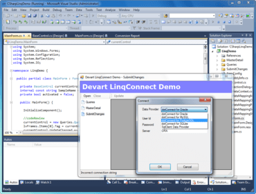 LinqConnect adds Visual Studio 2012 RC support