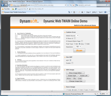 Dynamic Web TWAIN updated
