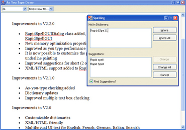 RapidSpell Web Java updated