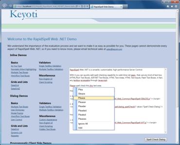 RapidSpell Web .NET updated