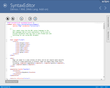 Actipro SyntaxEditor for WinRT XAML released