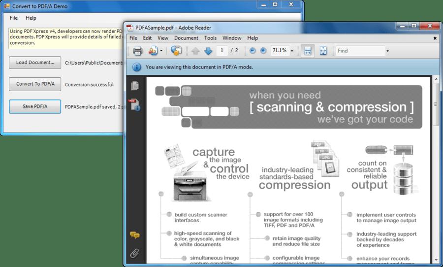 Screenshot of PDFXpress .NET