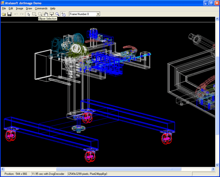 Screenshot of AtalaSoft DotImage CAD Reader Add-On
