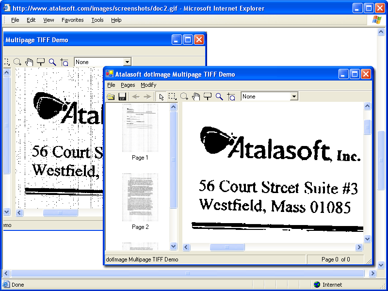 Screenshot of Atalasoft DotImage JBIG2 Codec Add-On