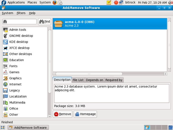 Screenshot of InstallBuilder for Linux