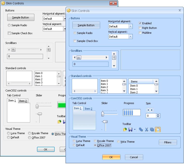 Screenshot of Codejock Skin Framework ActiveX