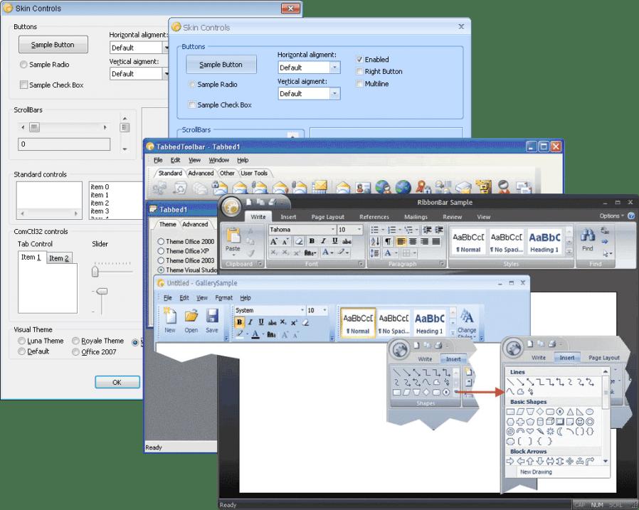 Screenshot of Codejock Skin Framework Bundle Visual C++ MFC