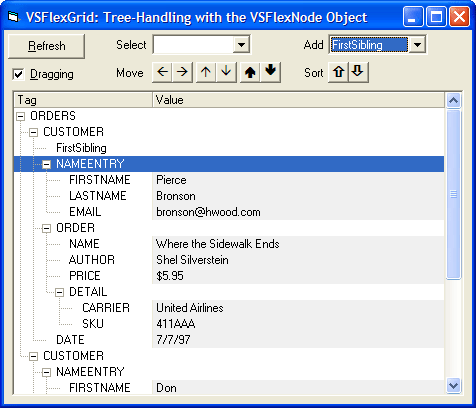 Screenshot of VSFlexGrid Pro