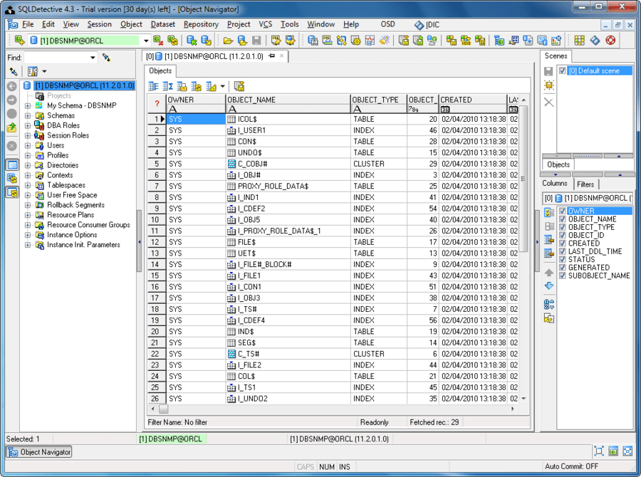 Screenshot of SQLDetective