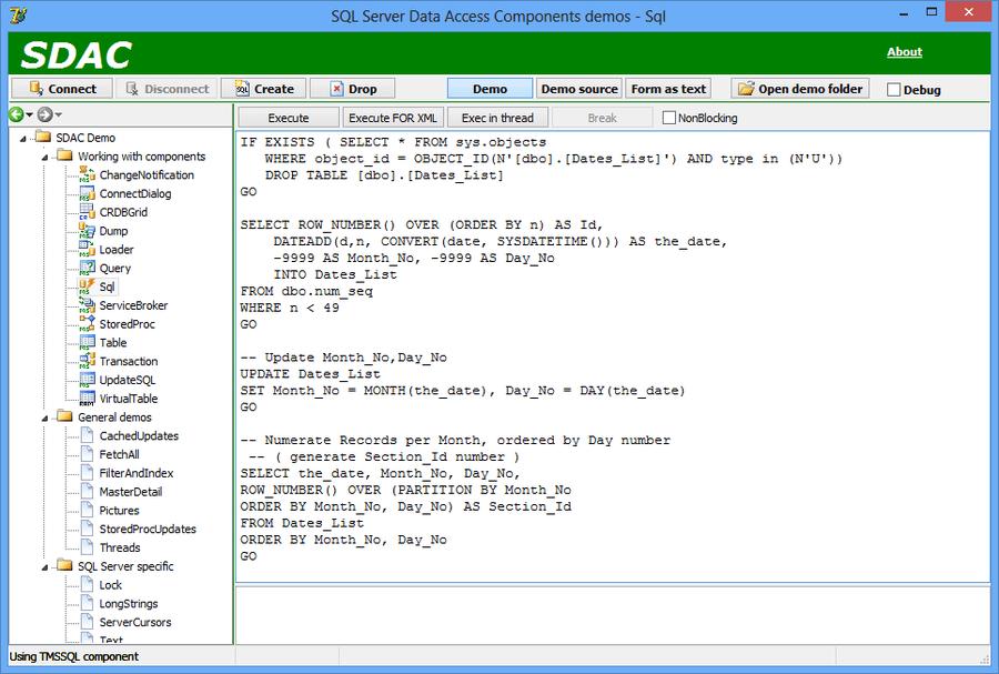 Screenshot of SQL Server Data Access Components (SDAC)
