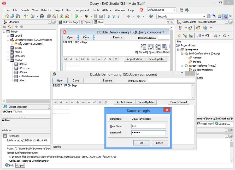 Screenshot of dbExpress Driver for InterBase/Firebird