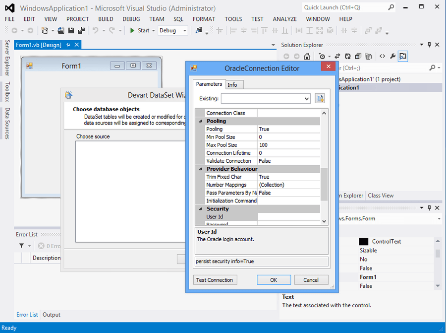 Screenshot of dotConnect for Oracle