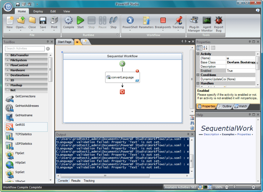 Screenshot of PowerWF for Service Manager
