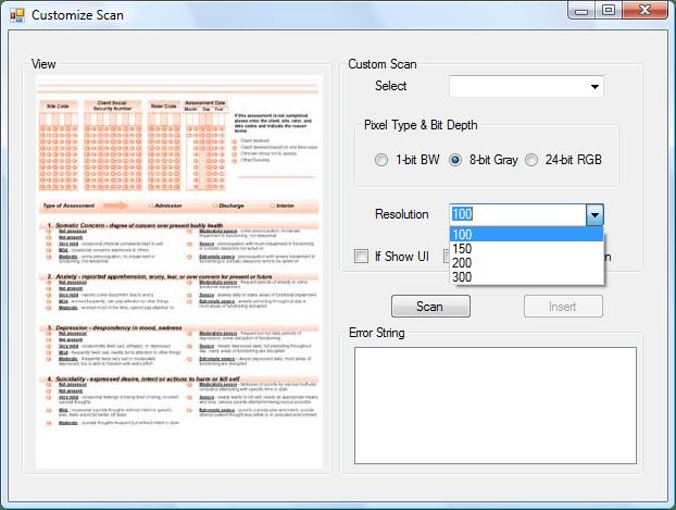 Screenshot of Dynamic .NET TWAIN