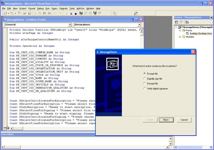 Screenshot of SecureBlackbox ActiveX Transports - In-house