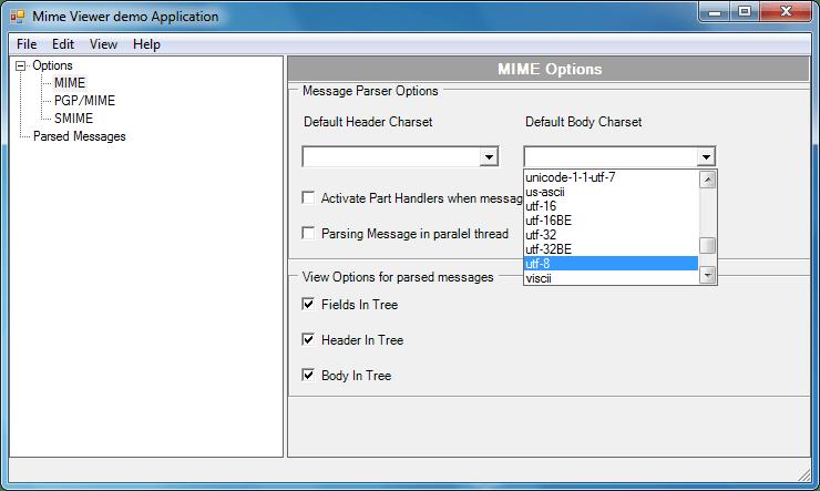 Screenshot of MIMEBlackbox .NET - Vendor