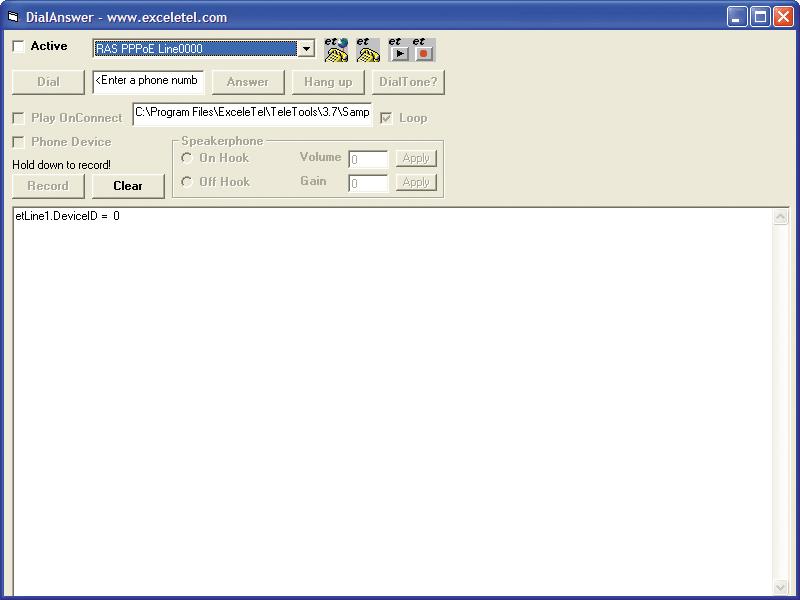 Screenshot of ExceleTel TeleTools Professional