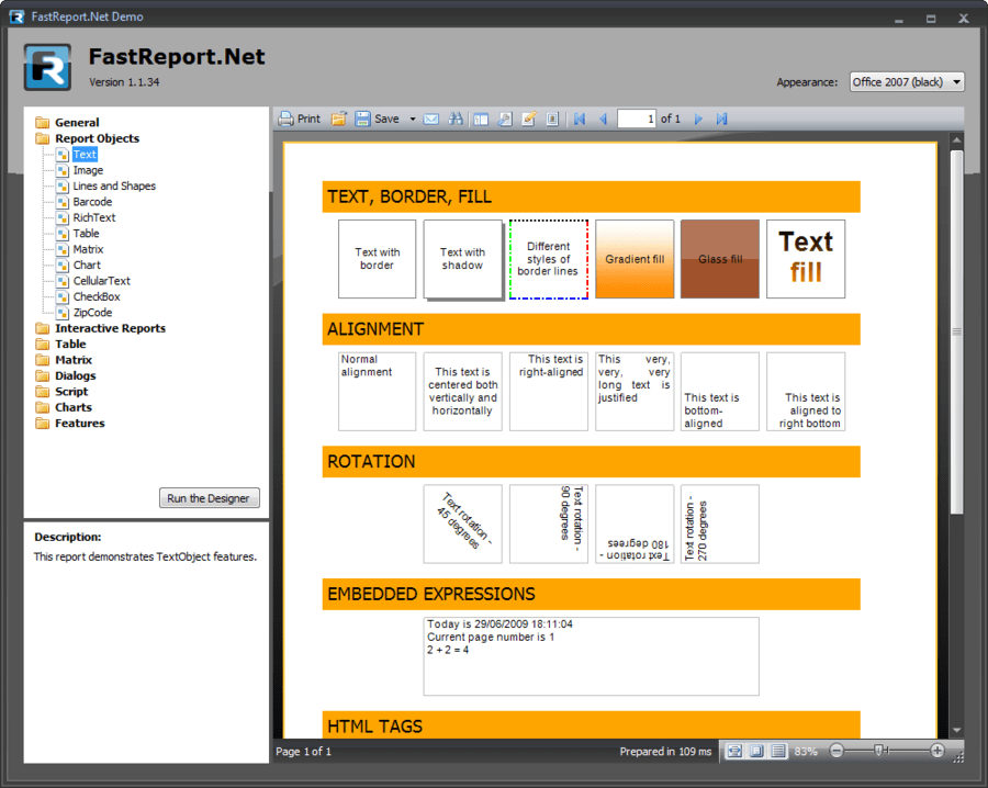 Screenshot of FastReport.Net