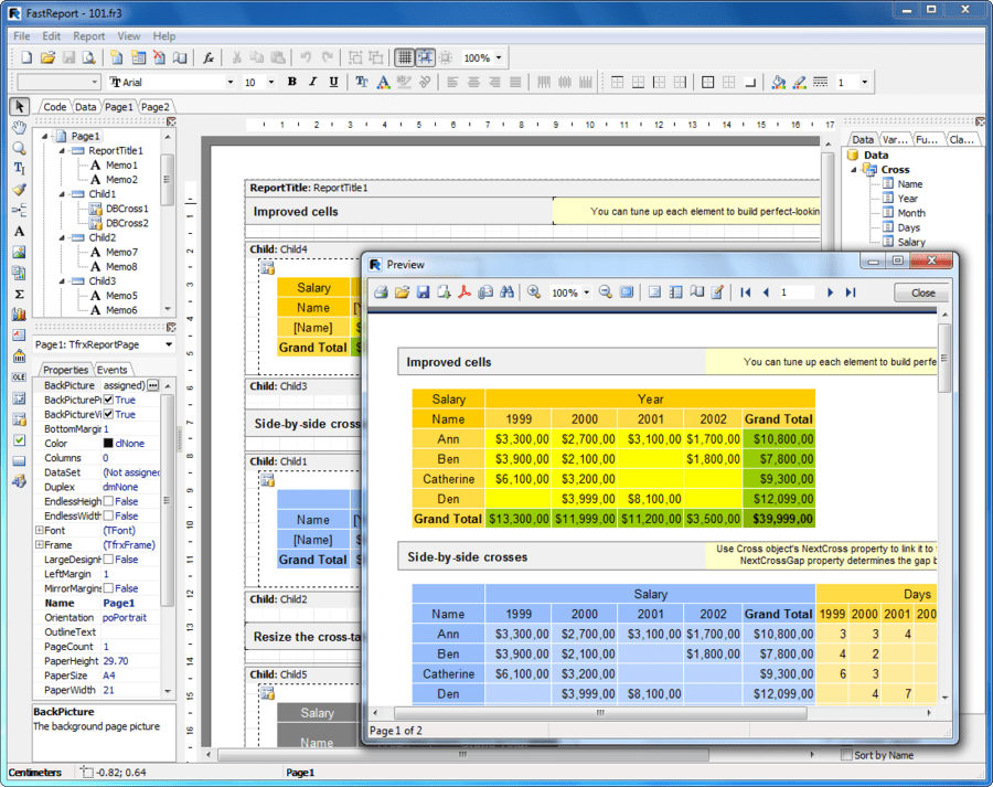 Screenshot of FastReport VCL Enterprise Edition