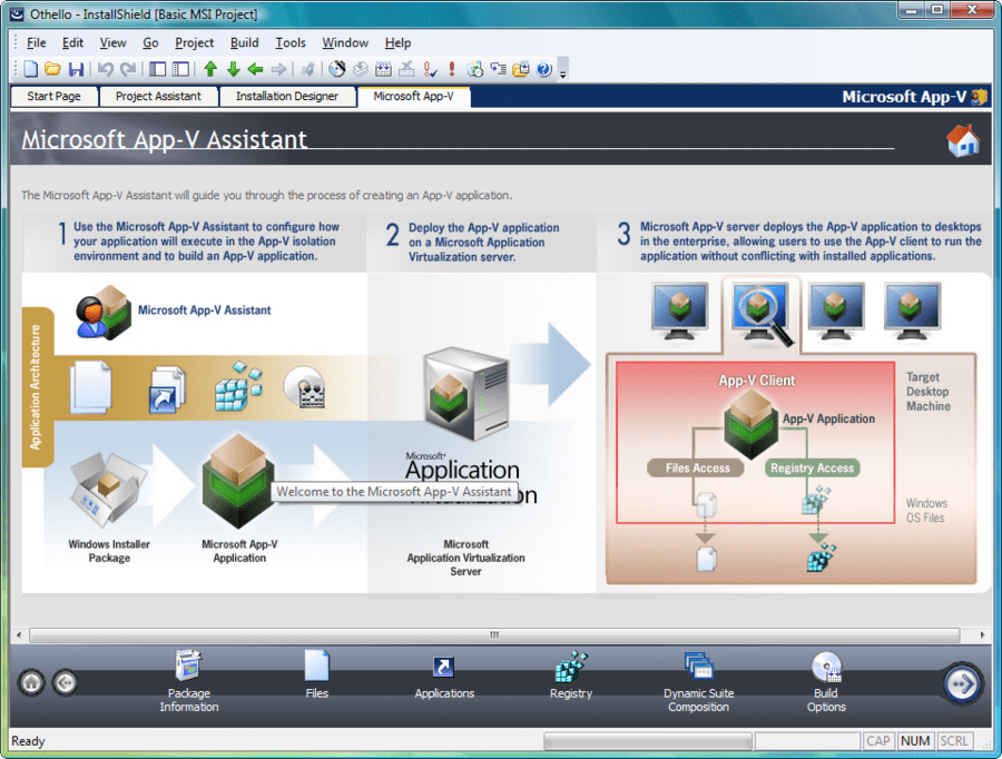 Screenshot of Installshield Professional with Virtualization Pack