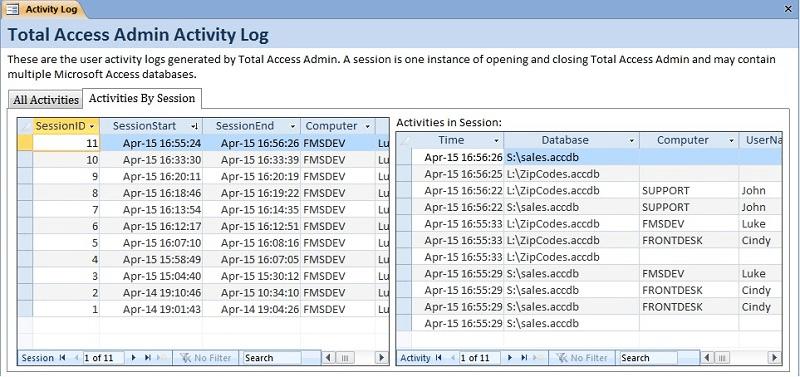 Screenshot of Total Access Admin