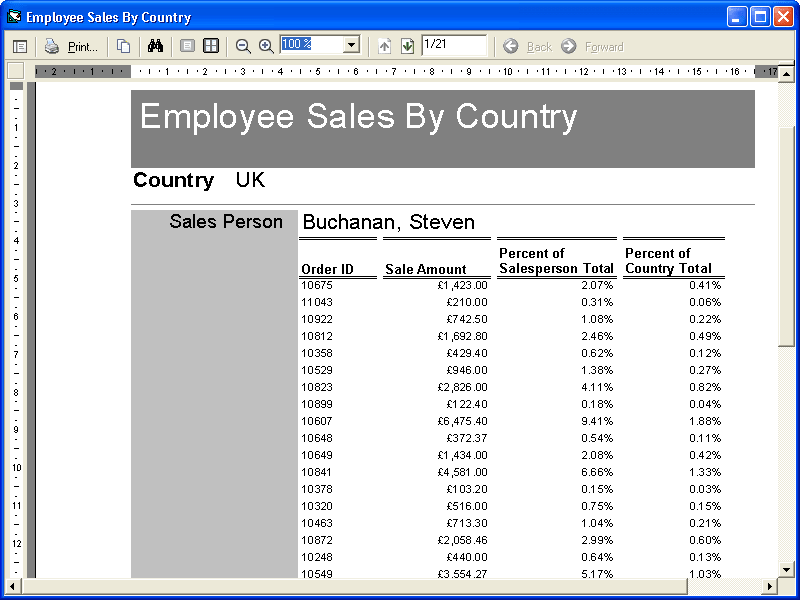 Screenshot of ActiveReports 2 for ActiveX/COM