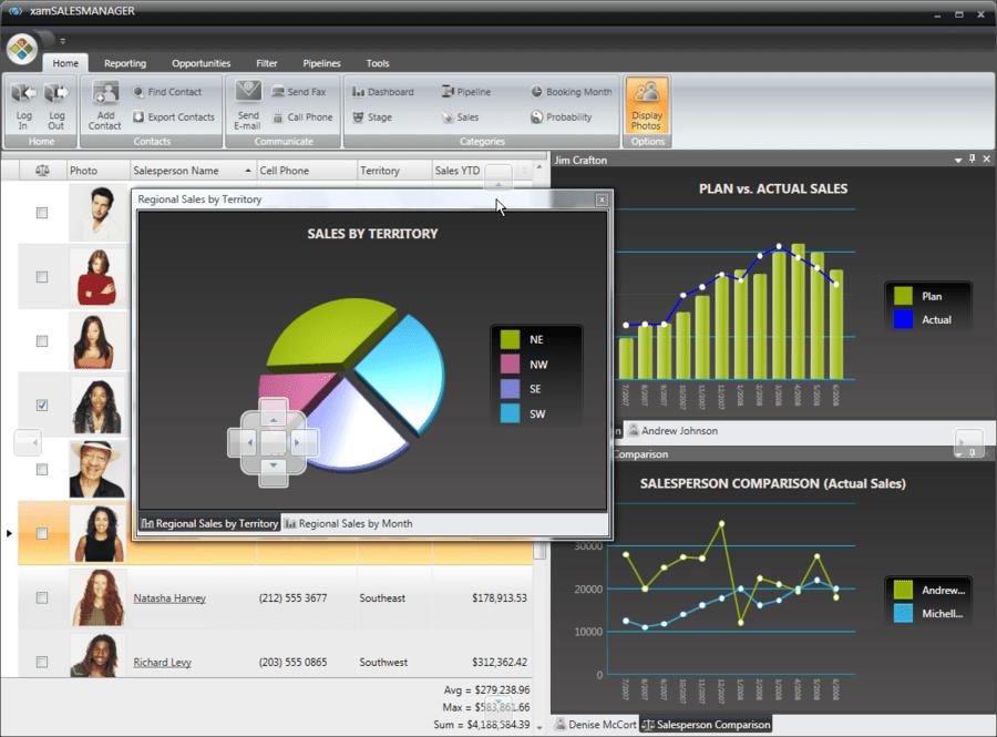 Screenshot of Infragistics NetAdvantage for Win Client