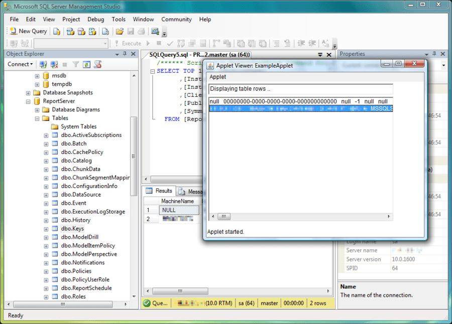 Screenshot of JSQLConnect