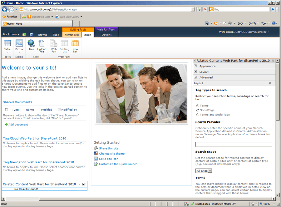 Screenshot of Knowledge Management Suite