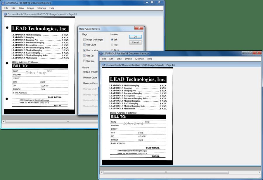 Screenshot of LEADTOOLS Document Imaging SDK