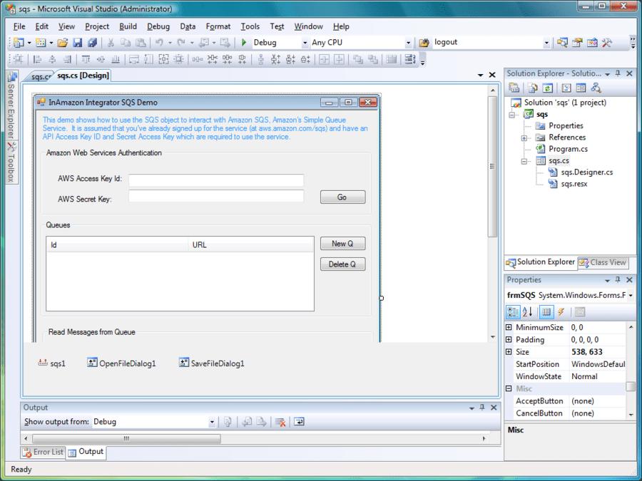 Screenshot of Amazon Integrator ActiveX/COM Edition