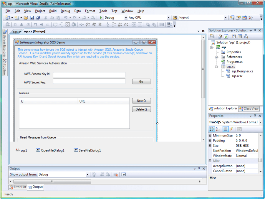 Screenshot of Amazon Integrator Delphi Edition