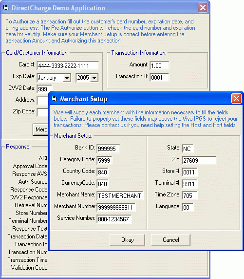 Screenshot of E-Payment Integrator C++ Edition